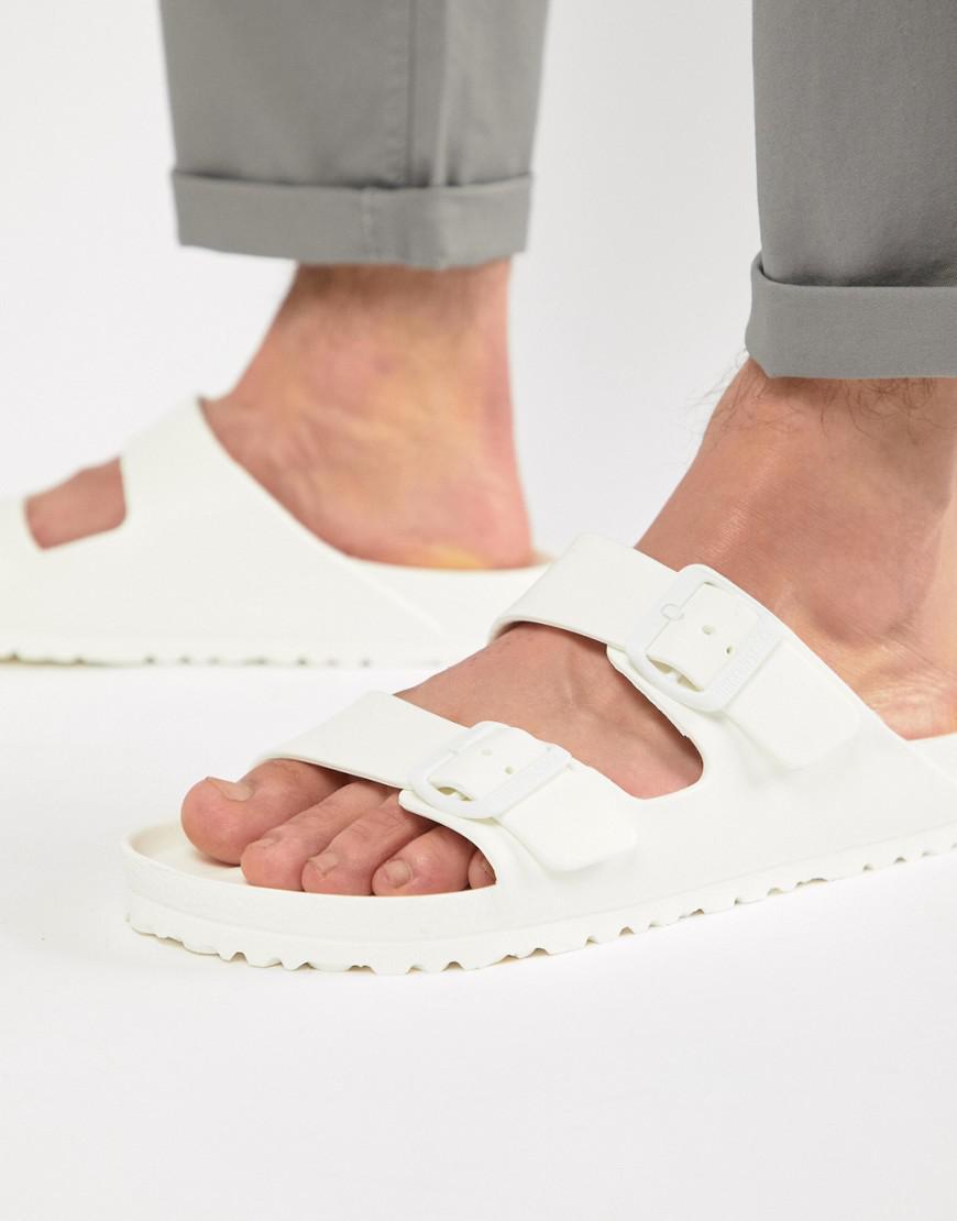 9313920fdc02 Birkenstock Arizona Eva Sandals In White in White for Men - Save 50 ...