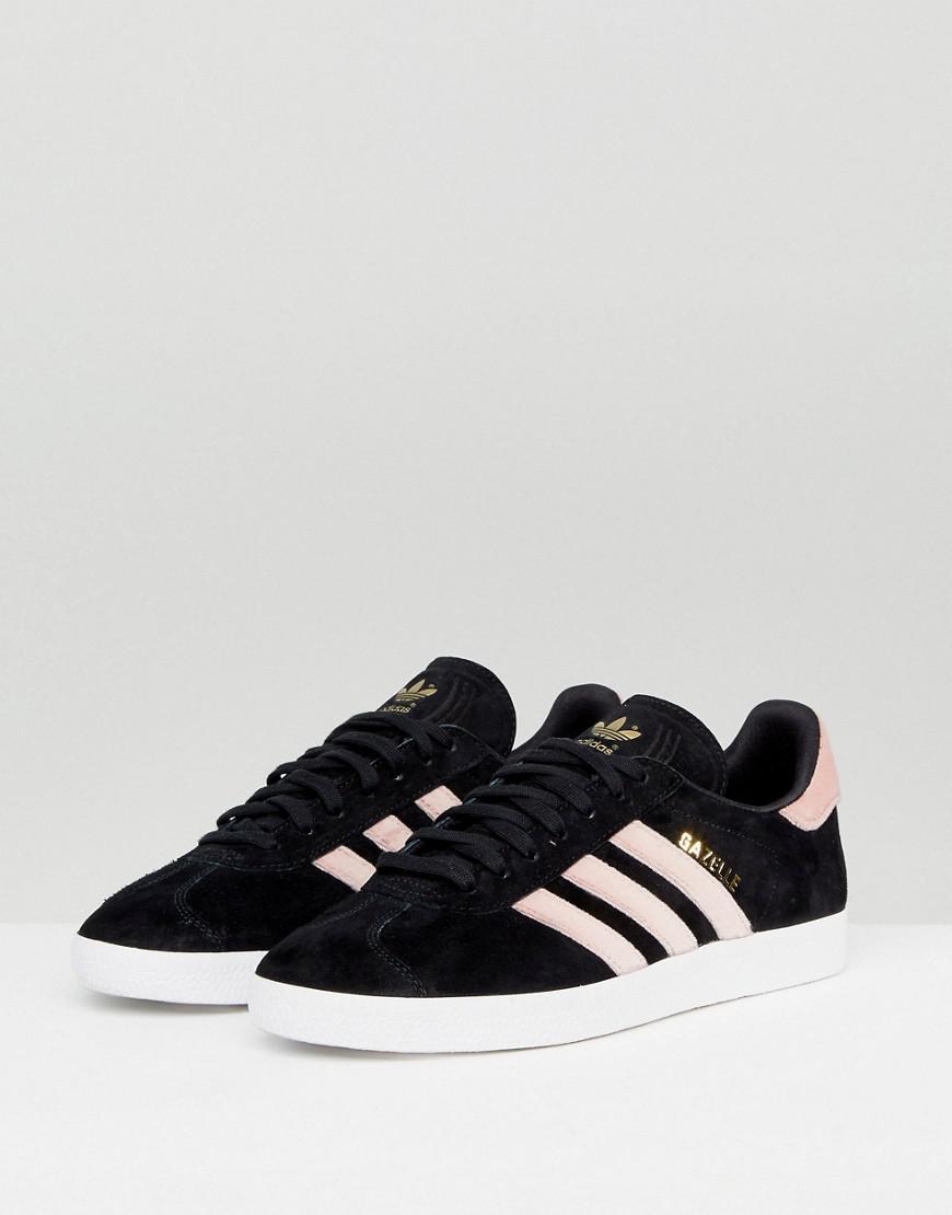 Adidas Originals Originals Gazelle zapatillas de terciopelo negro con