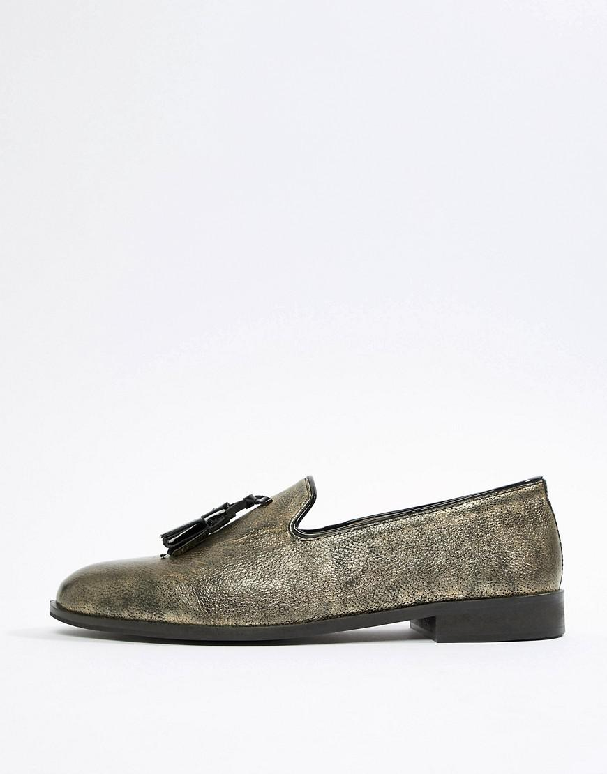 House of Hounds Blitz Loafers In Metallic YVKkC8kaIM
