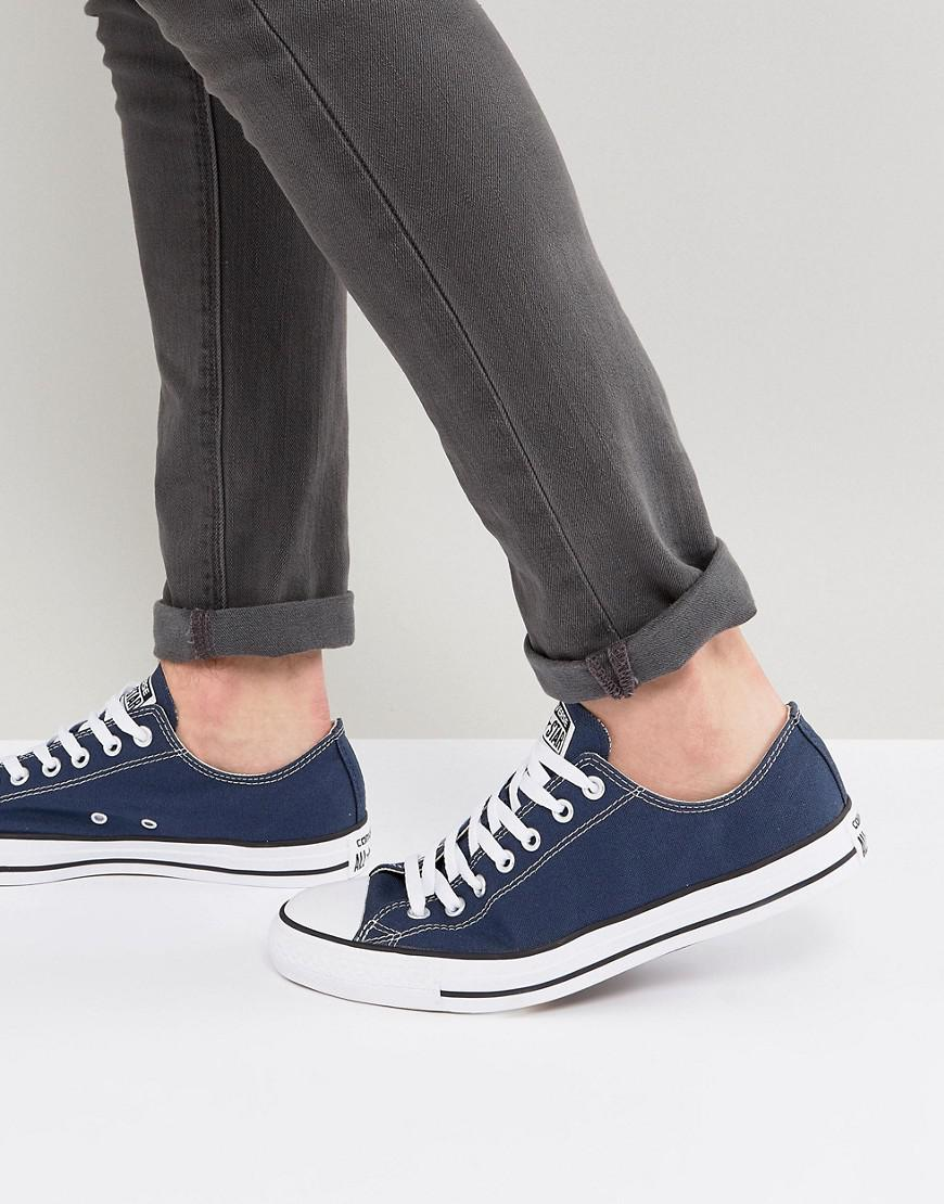 342bc00593f47f Converse All Star Ox Plimsolls In Navy M9697c in Blue for Men - Lyst