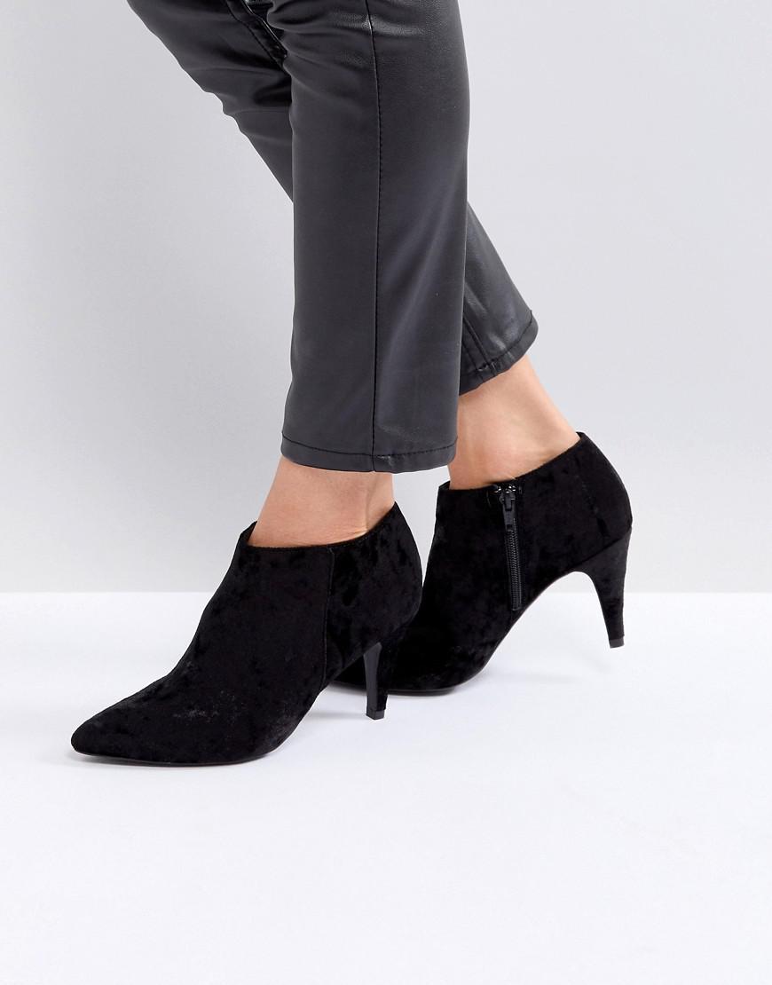 Velvet Point Ankle Boot - Black New Look sF9dO59n