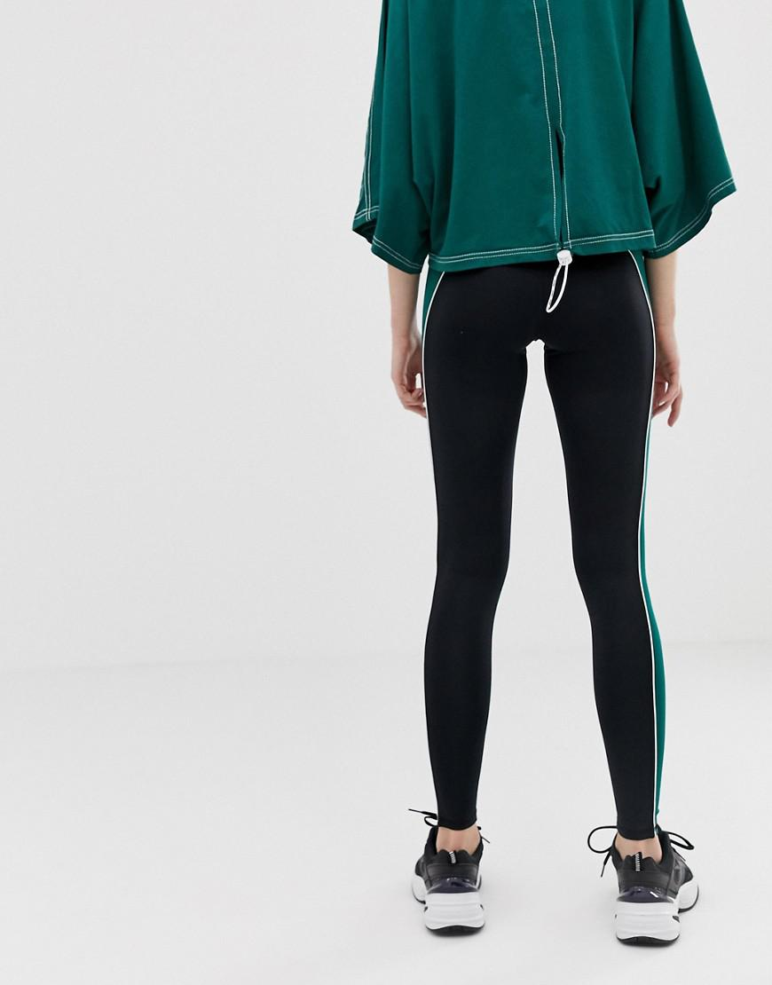 5069a1b5a33c0 Lyst - Ivy Park Active Colourblock Leggings In Green in Green