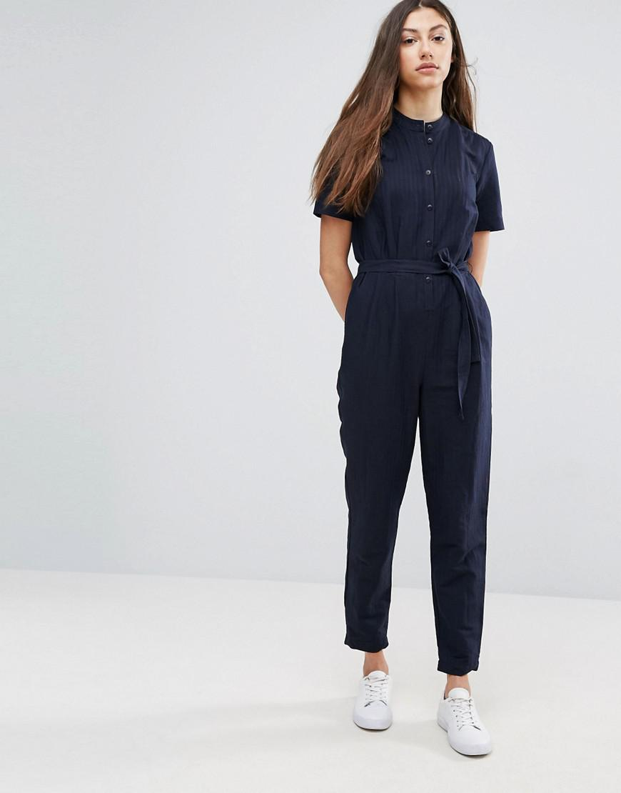 794a4fe54d53 YMC Herringbone Jumpsuit in Blue - Lyst