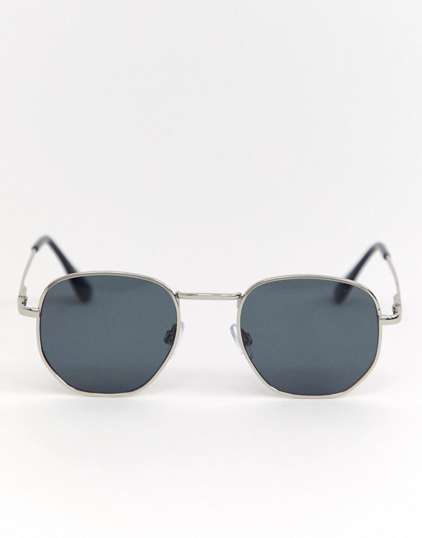fb69c705a4e A.J. Morgan Round Sunglasses In Silver in Metallic for Men - Lyst