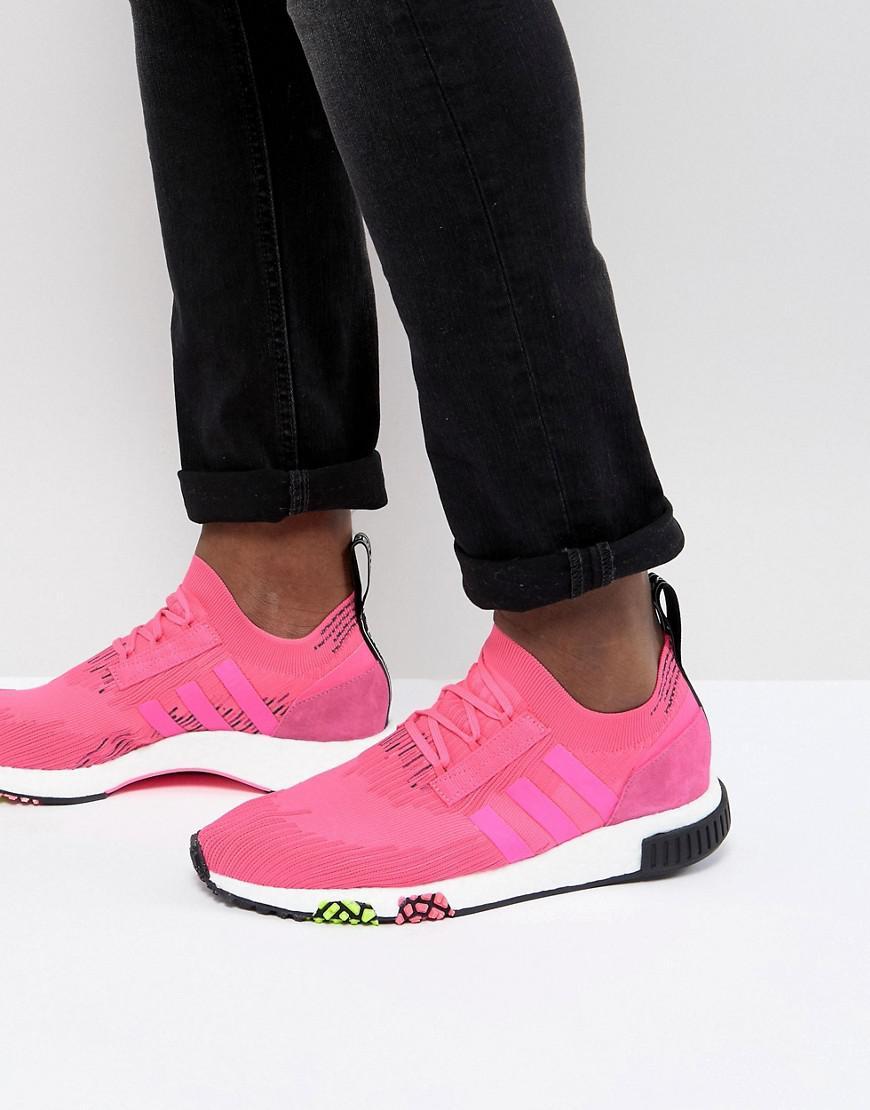 Adidas Originals NMD Racer PK Boost formadores en rosa cq2442 en blanco