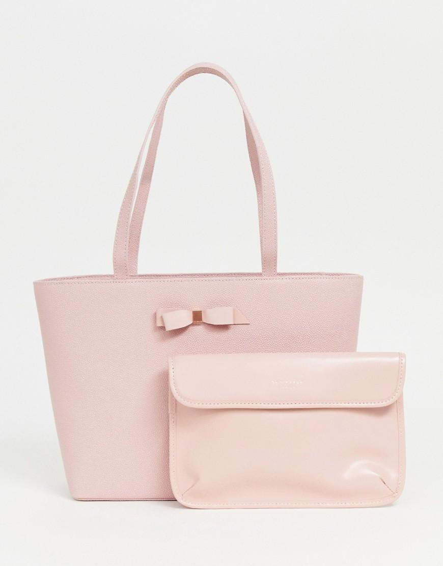 3501bbb941367 Ted Baker Jessica Bow Shopper Bag in Pink - Lyst
