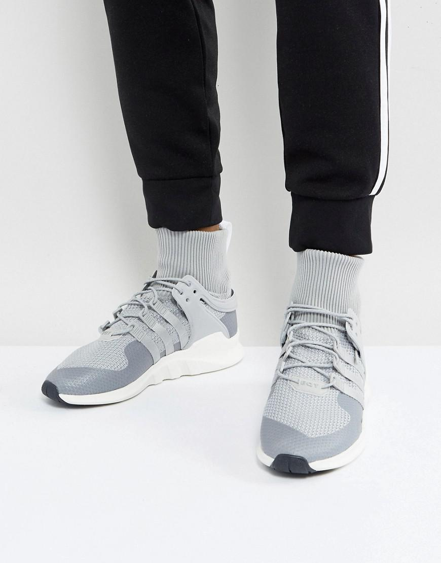 new product 2e025 8d5cf adidas Originals. Mens Gray Eqt Support Adv Winter Sneakers In Grey Bz0641