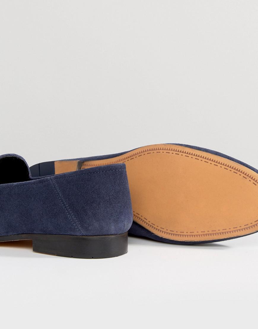 40f47709de2 Lyst - Kurt Geiger Max Suede Smart Loafers in Blue for Men