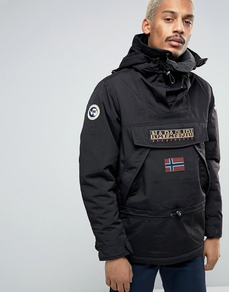 Lyst Napapijri Skiddo Overhead Jacket In Black In Black