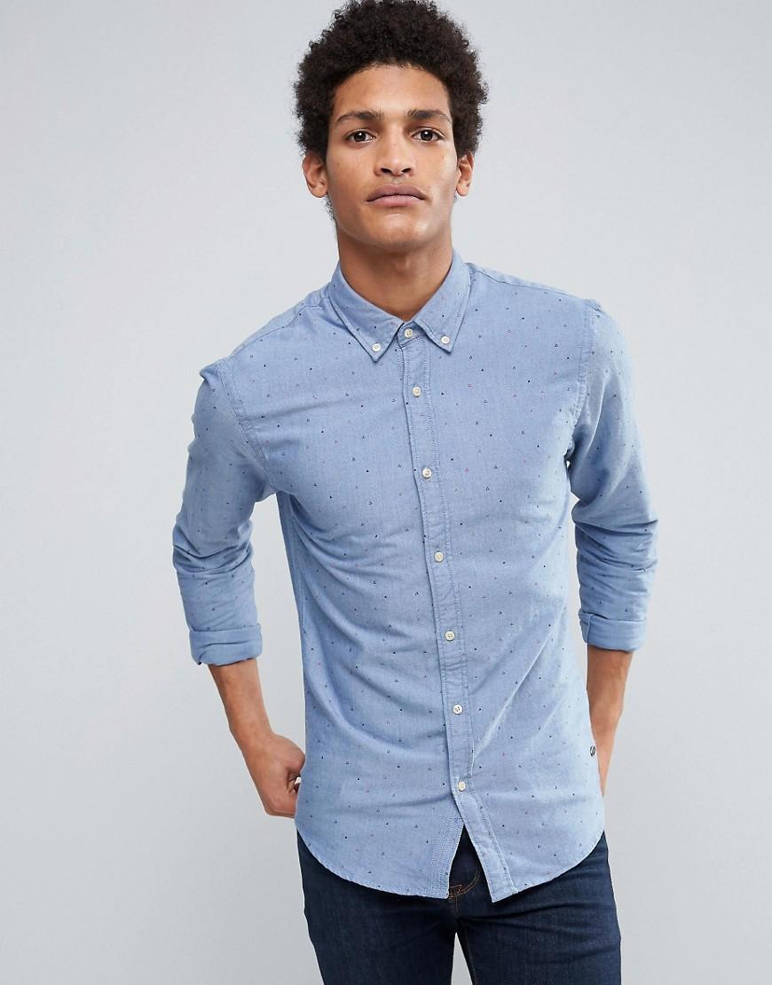 Lyst scotch soda oxford shirt in blue for men for Mens blue oxford shirt