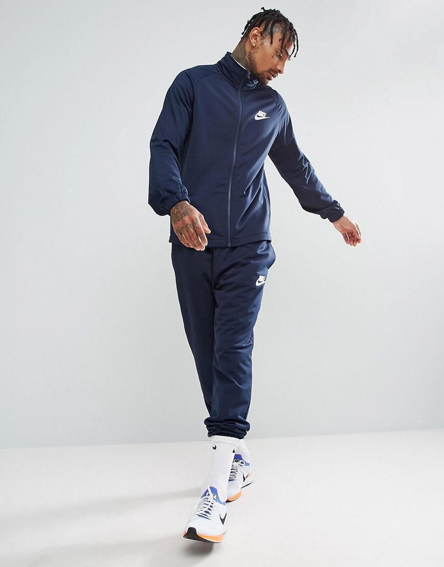 newest c3254 7fd89 Lyst - Survtement en maille polyester Nike pour homme en col