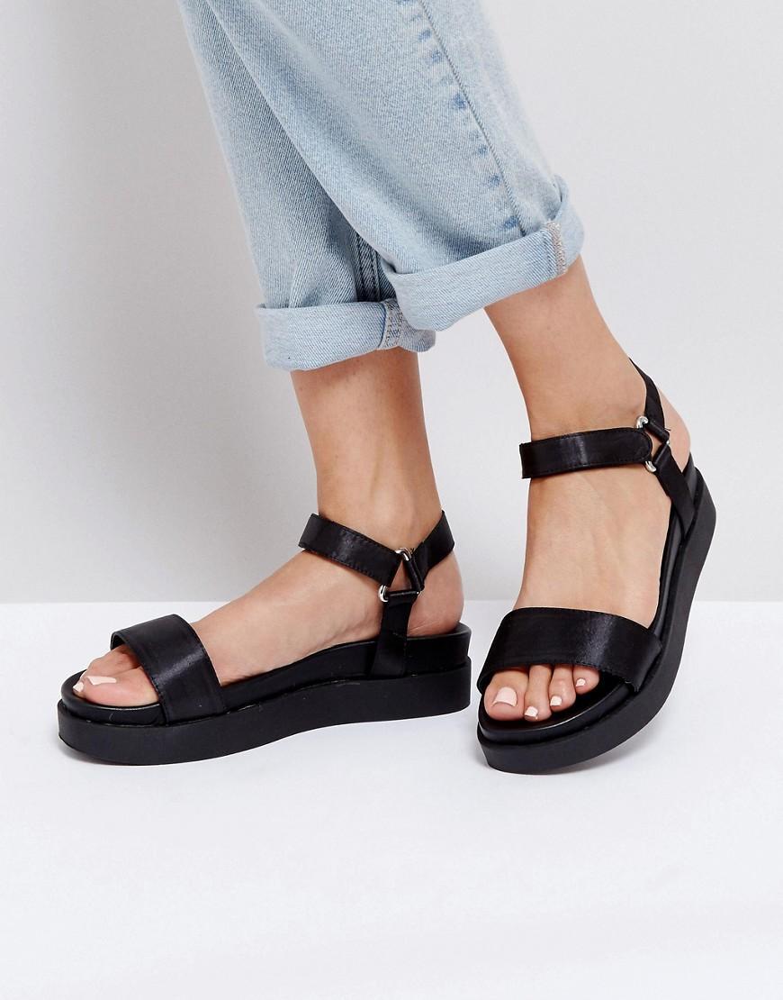 New Look Sports Strap Flatform Sandals In Black Lyst