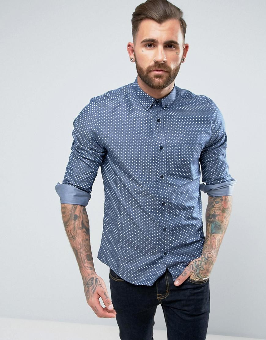 Hugo by boss elisha slim embroidered paisley shirt in for Hugo boss slim dress shirt