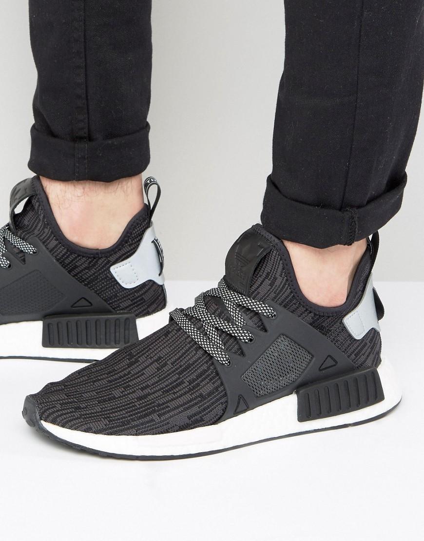 Adidas originali nmd rt pk scarpe in nero s77195 in nero