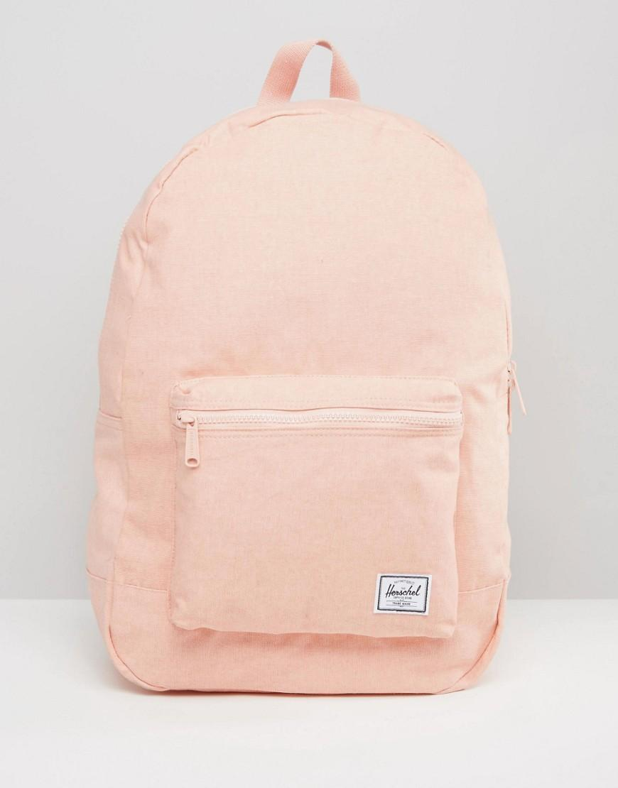 92b8d90d4e Lyst - Herschel Supply Co. . Cotton Daypack Backpack In Apricot ...
