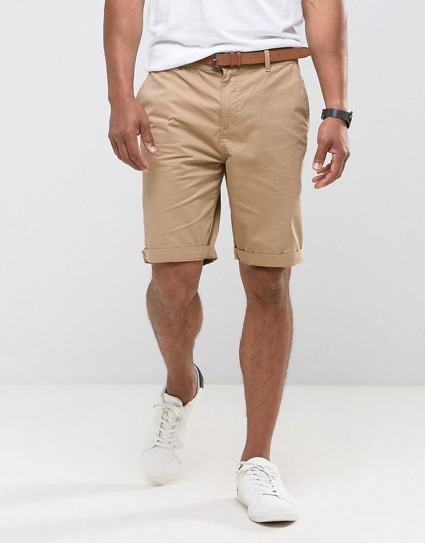 Modern-fit chino short featuring asymmetric back yoke seaming and Goodthreads Men's 9