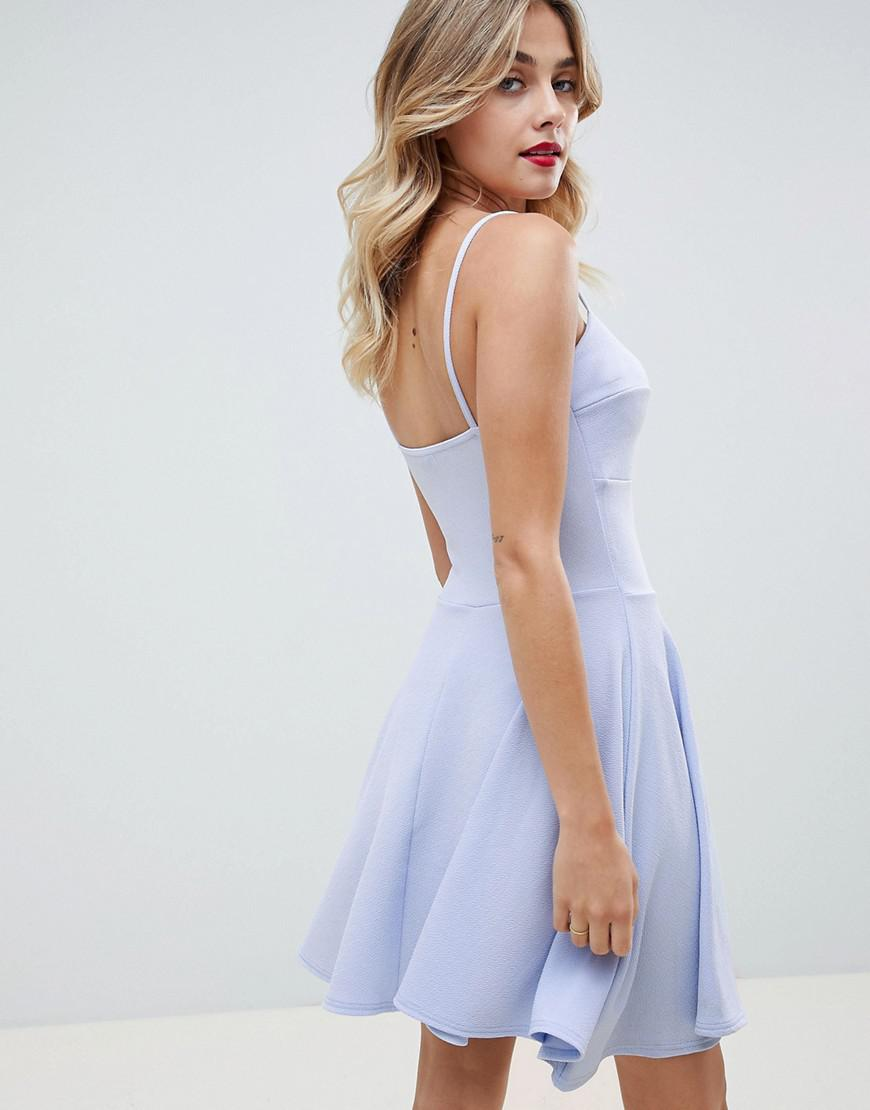 b1318050bca Lyst - Boohoo Strappy Skater Dress in Blue