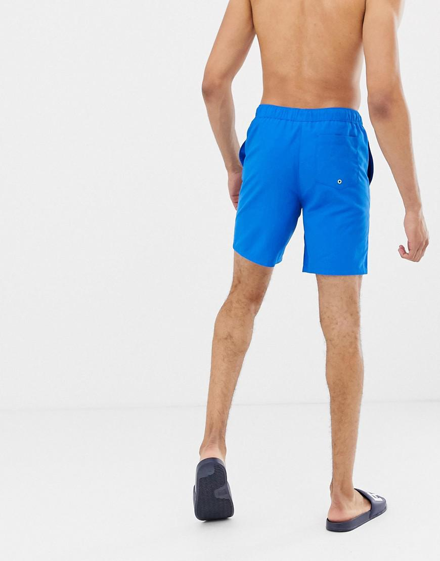 bf4796e20f Asos Tall Swim Shorts In Blue In Mid Length in Blue for Men - Lyst