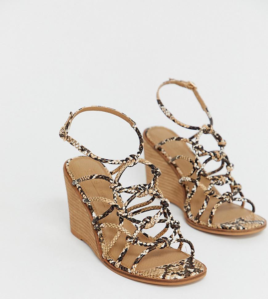 5721944d4738 ASOS. Women s Wide Fit Zoe Wedge Sandals