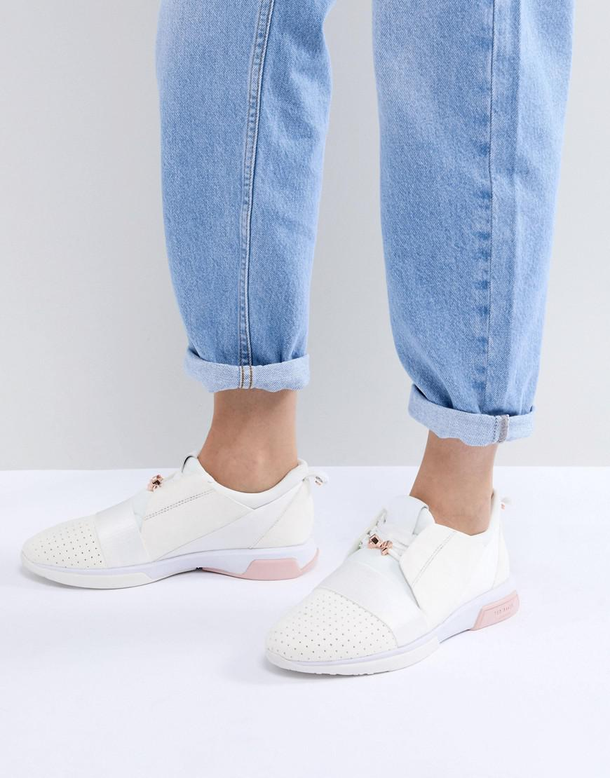Cepas White and Rose Gold Strap Trainers - White/rose gold Ted Baker Ju6njJ
