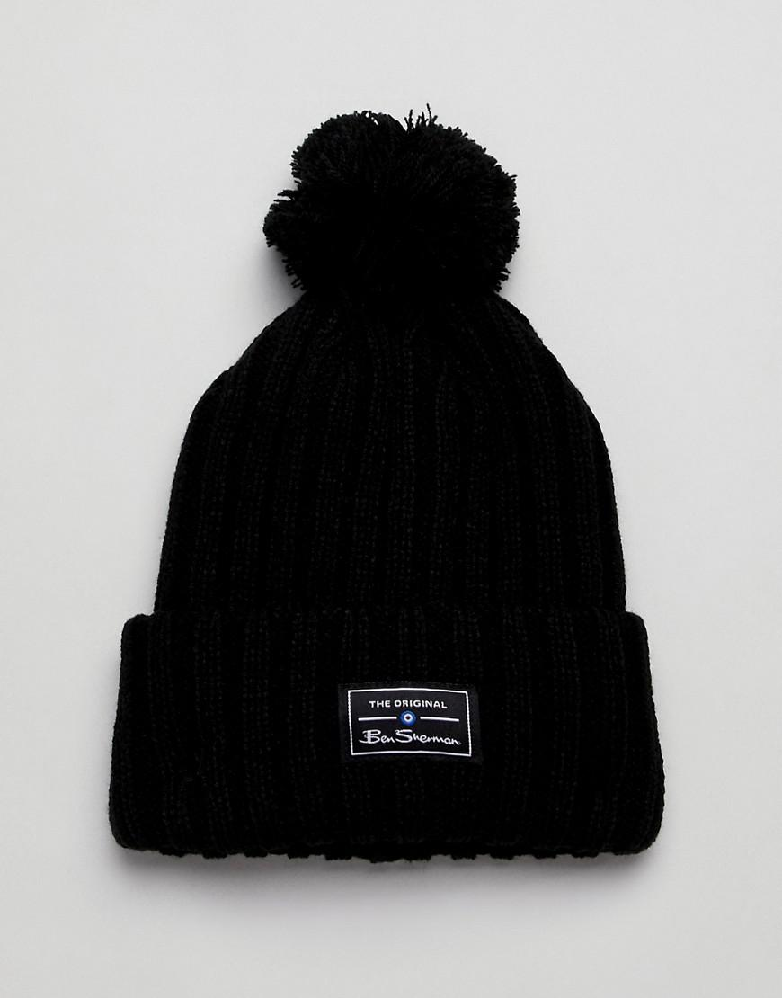 bbeb5d8f972 Lyst - Ben Sherman Mccree Bobble Hat in Black for Men