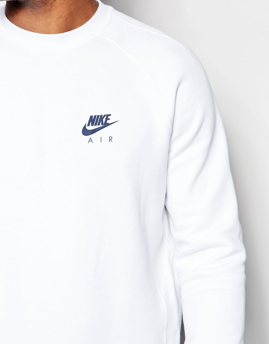 nike air sweatshirt in white 809058 100 in white for men. Black Bedroom Furniture Sets. Home Design Ideas