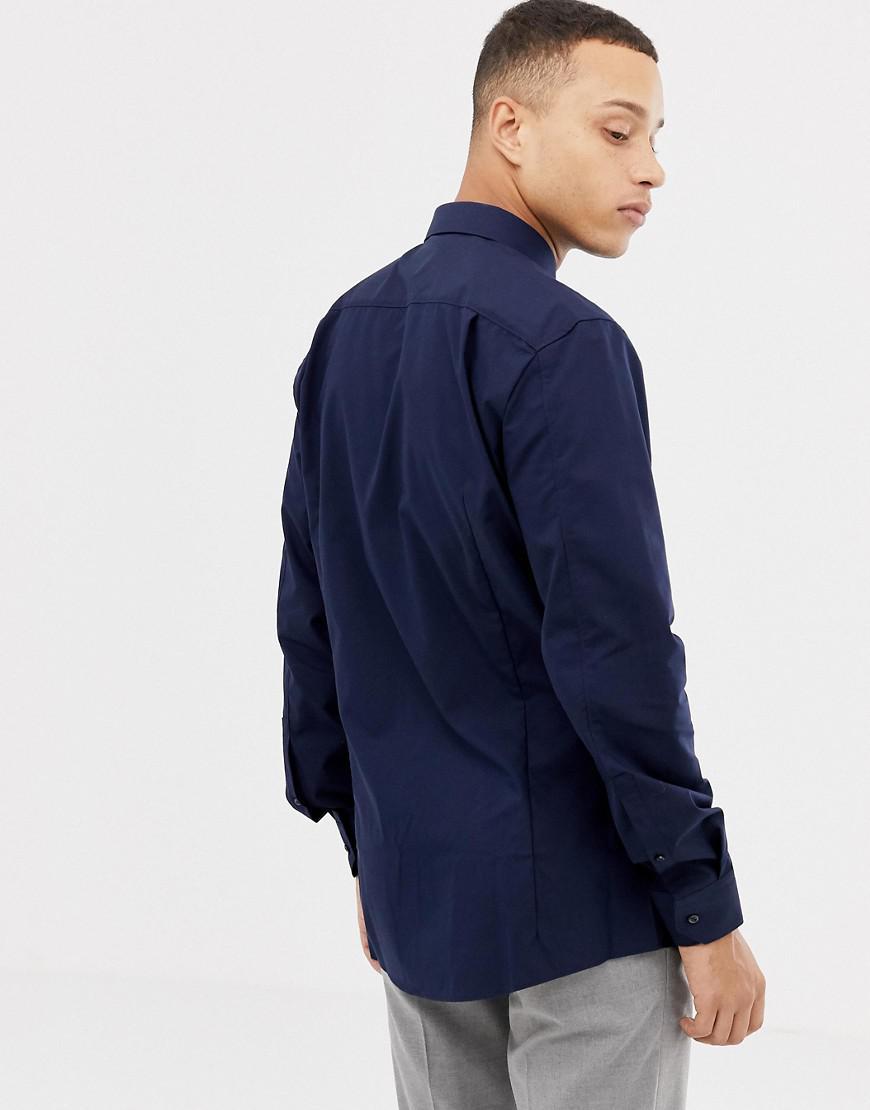 a7a2d695d9f8 Hugo Elisha01 Extra Slim Fit Poplin Shirt In Navy in Blue for Men - Lyst
