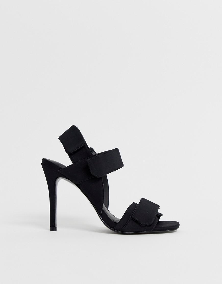 ea0b5de803f ASOS Hazelnut Sporty Heeled Sandals in Black - Lyst