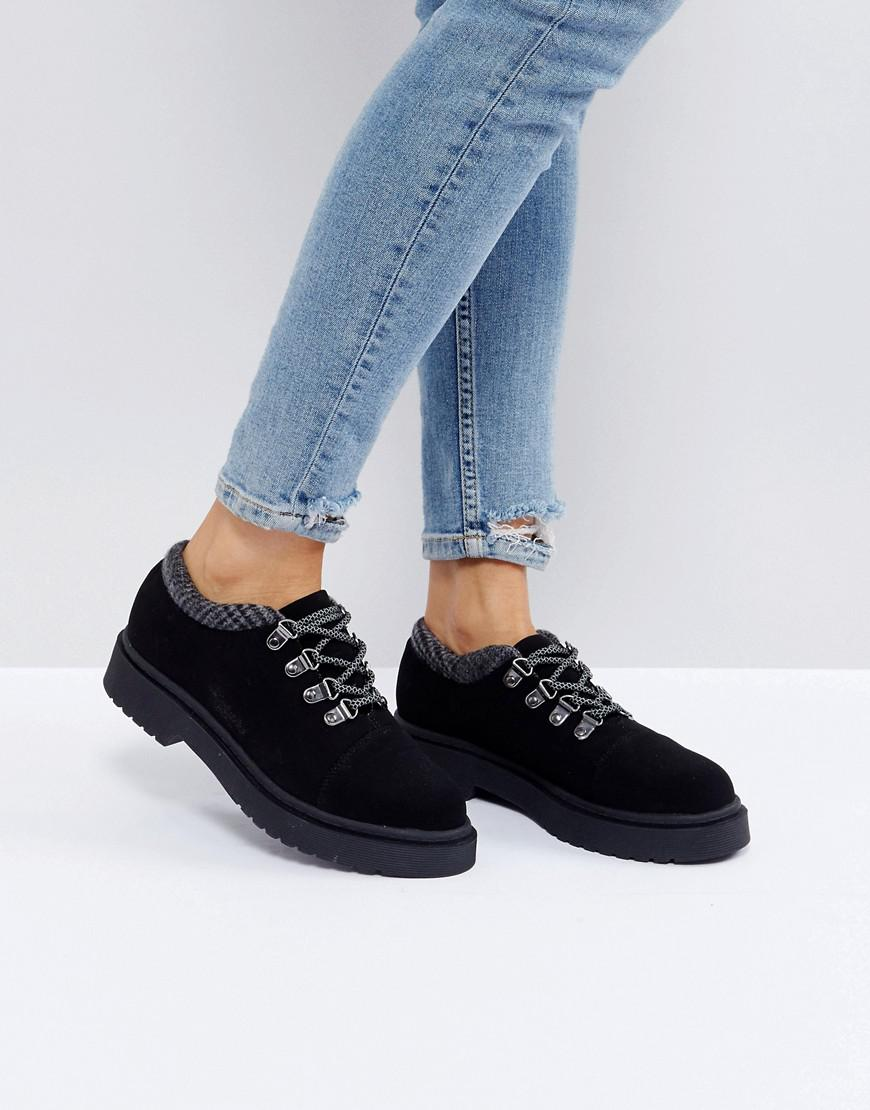 d8aa245c257 ASOS Asos Marcher Chunky Hiker Shoes in Black - Lyst