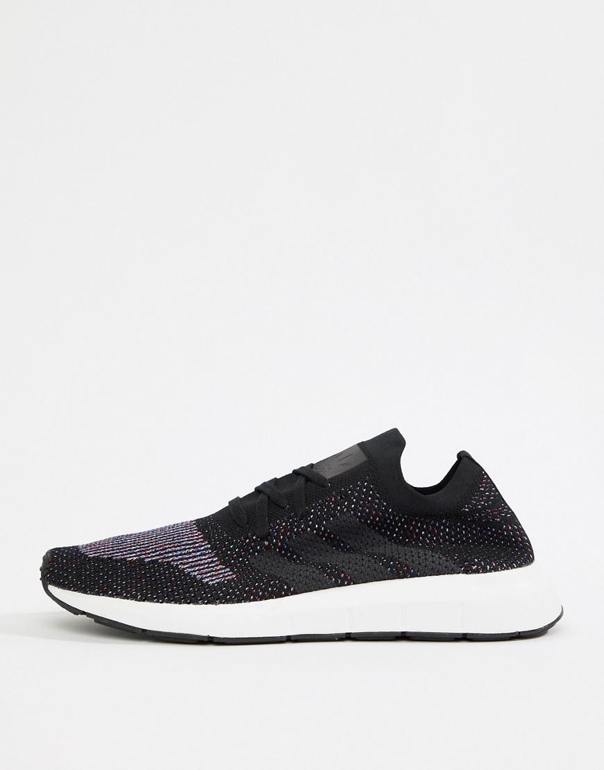 Lyst - adidas Originals Swift Run Primeknit Sneakers In Black Cq2894 in  Black for Men df8820c18