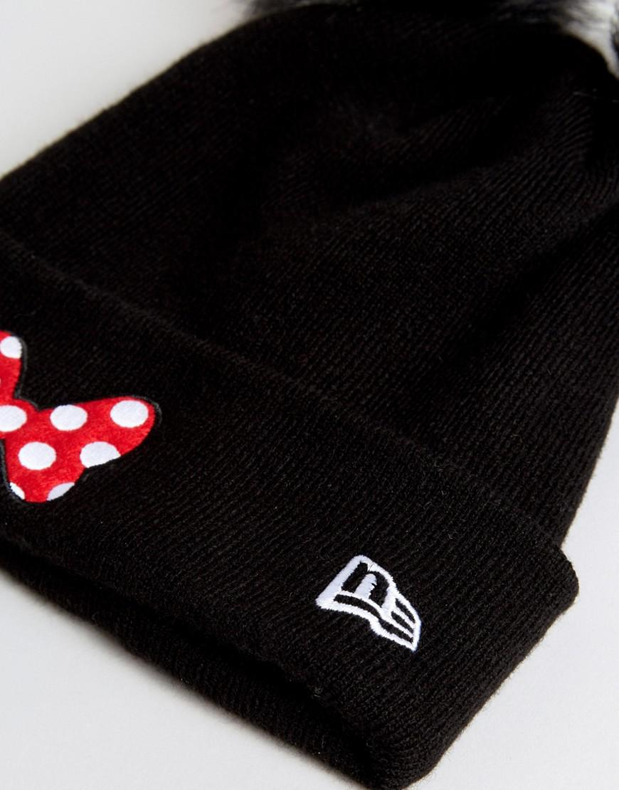 Lyst - KTZ Double Pom Beanie With Minnie Mouse Bow in Black 2e886f540e7