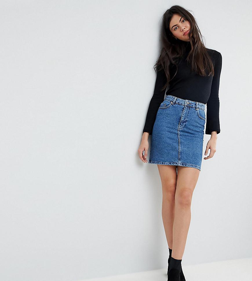 Clearance Enjoy Outlet Visa Payment ASOS ASOS DESIGN Tall denim original high waisted skirt in stonewash Cheap Huge Surprise SfSeLtOS