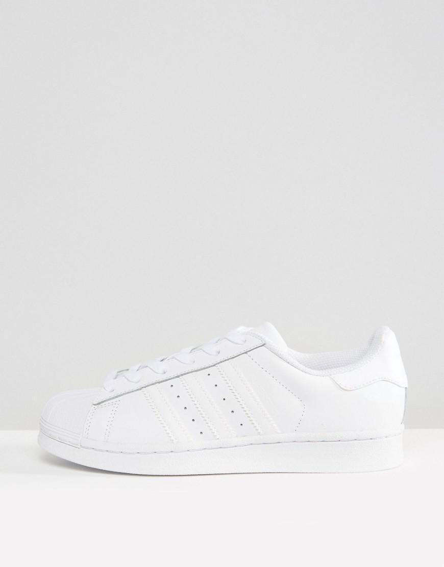 competitive price 6fe90 32856 adidas Originals Originals Foundation All White Superstar Sneakers ...