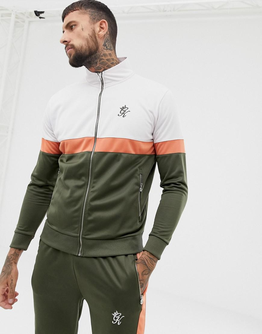 f1f86d32 Gym King Muscle Retro Track Top In Khaki in Green for Men - Lyst