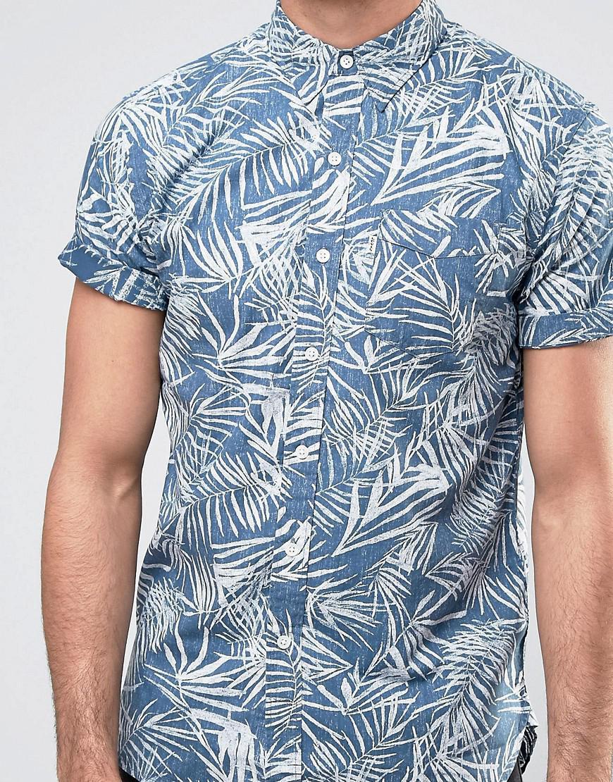 04bfcf294 Levi'S Sunset One Pocket Shirt Short Sleeve Mandola Dress Blues in ...