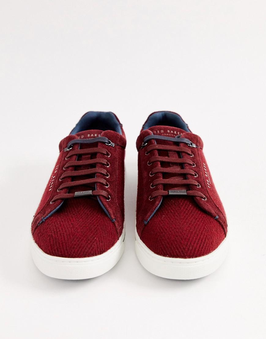 6df5b9862bdf2f Ted Baker Werill Trainers In Burgundy in Red for Men - Lyst