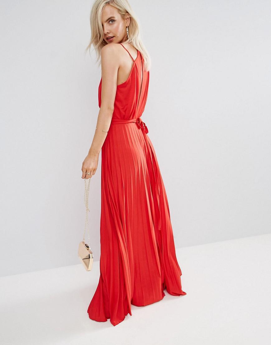 06858158528e Asos Blouson Floral Pleated Wrap Maxi Dress