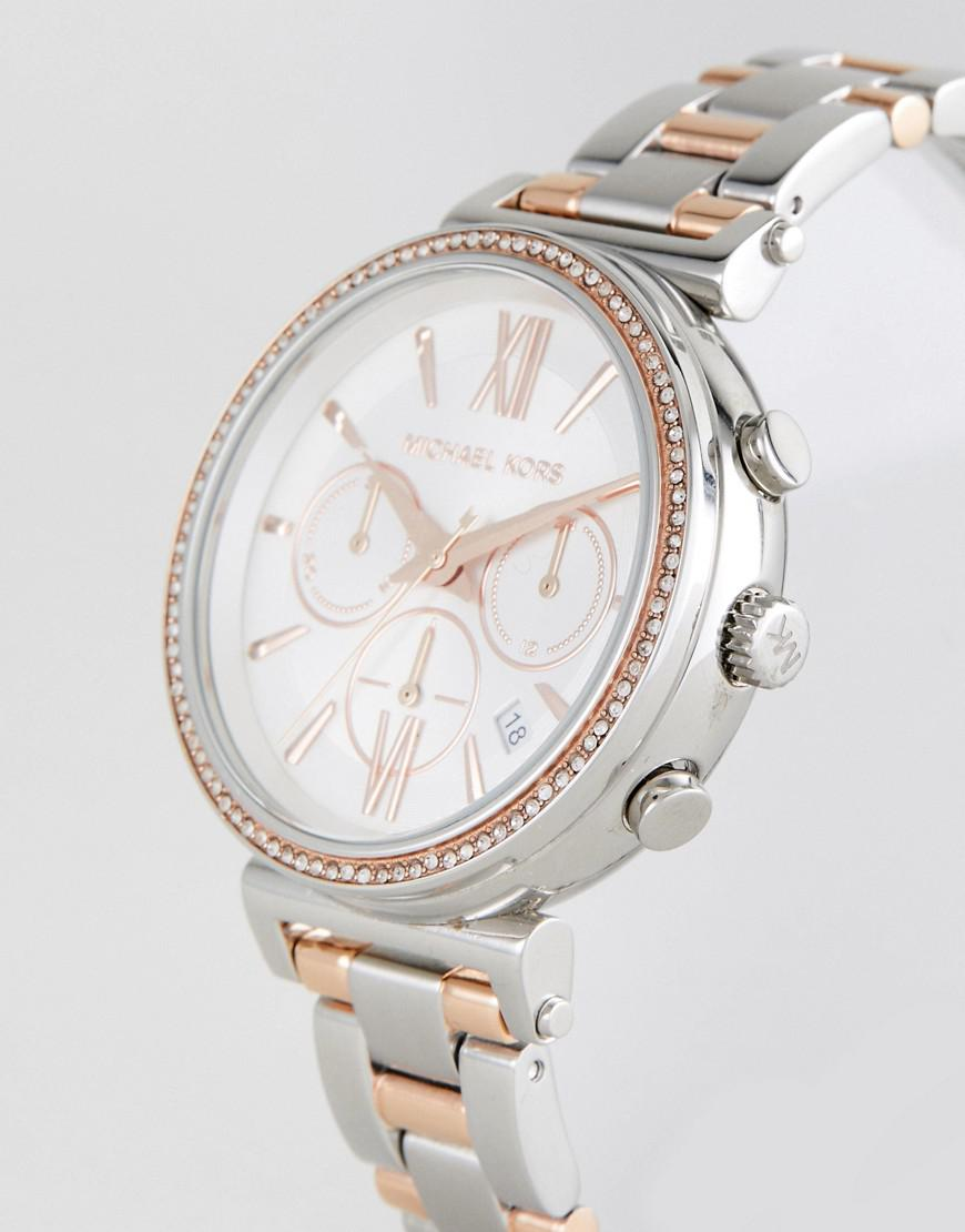 68f9b05ab Michael Kors Mk6558 Sofie Bracelet Watch In Mixed Metal 39mm in ...