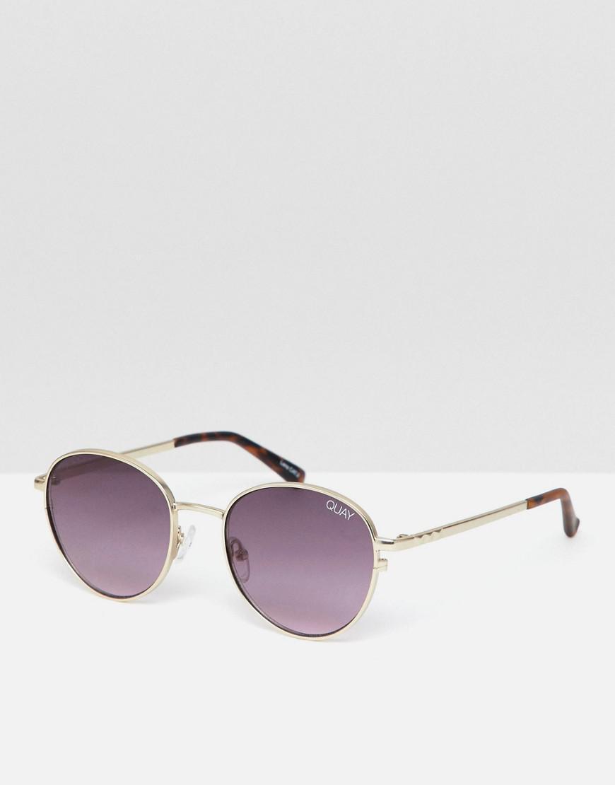 306694dbfc Quay - Metallic Crazy Love Round Sunglasses for Men - Lyst. View fullscreen