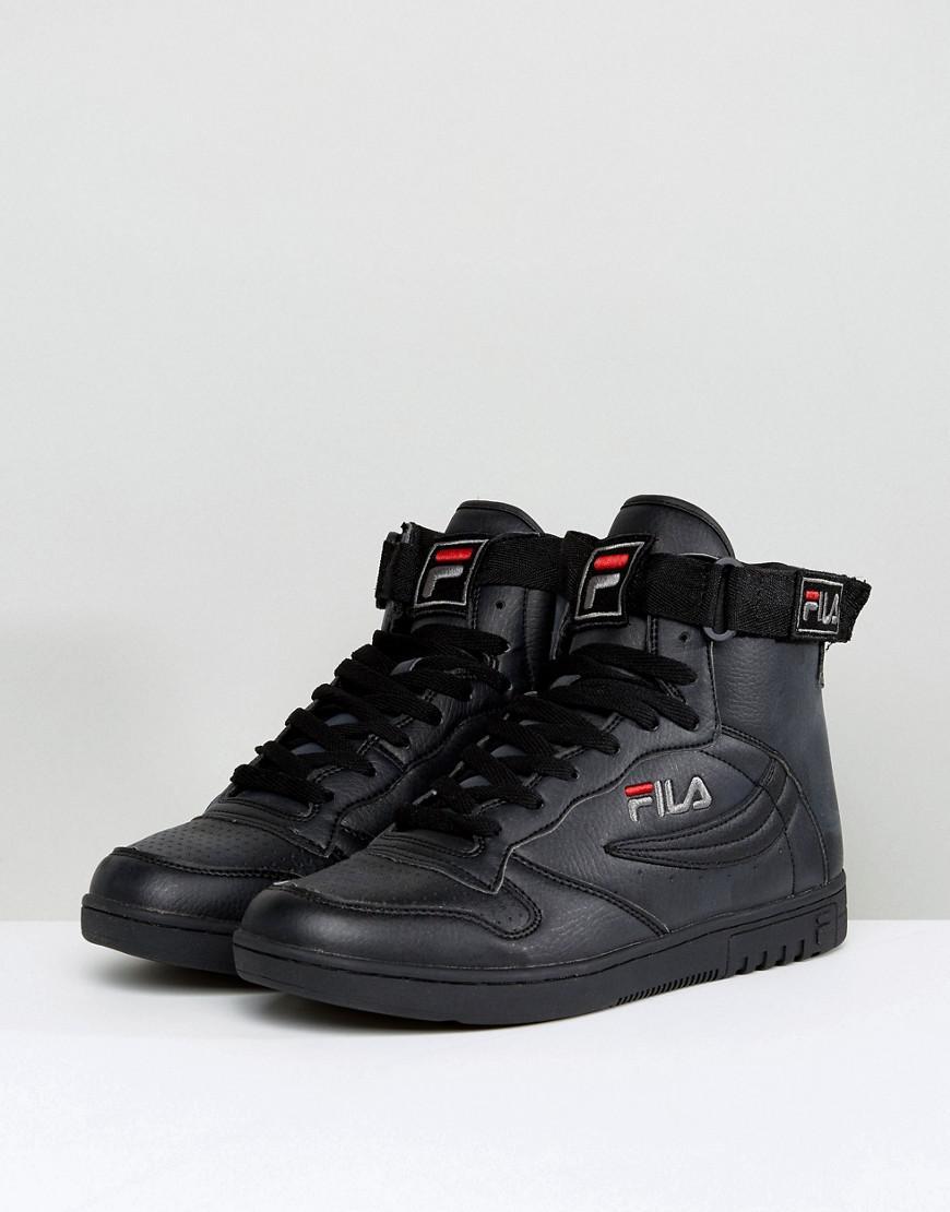 30c6e2351d35 Lyst - Fila Fila Fx-100 Mid Trainers In Black in Black for Men