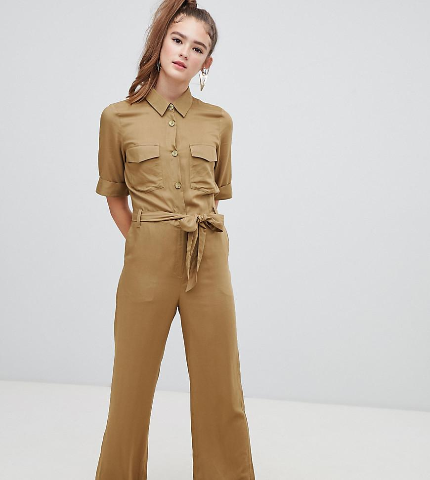 c3a2d062d5 Monki Utility Belted Boilersuit In Khaki in Red - Lyst