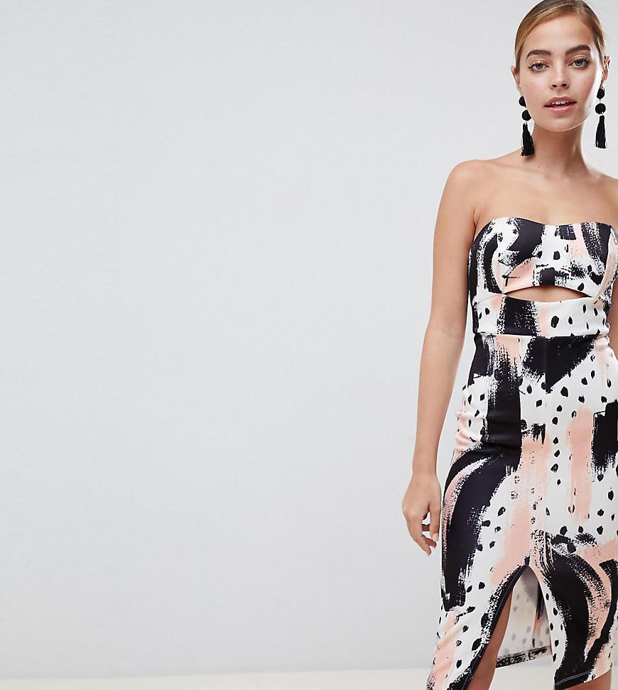 909e49d5e5a9 ASOS. Women's Asos Design Petite Abstract Zip Detail Bandeau Pencil Dress