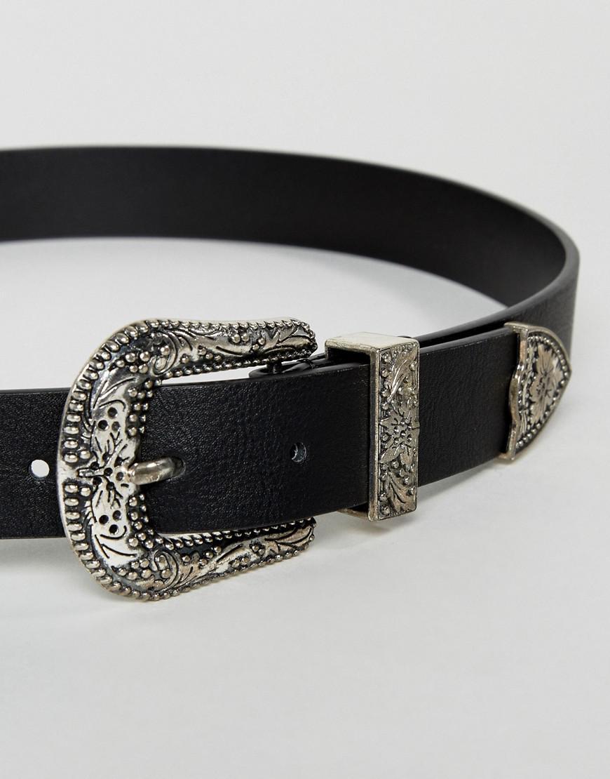 d1a9ef2b2306 Lyst - Lot de 2 ceintures taille ou hanches style western ASOS