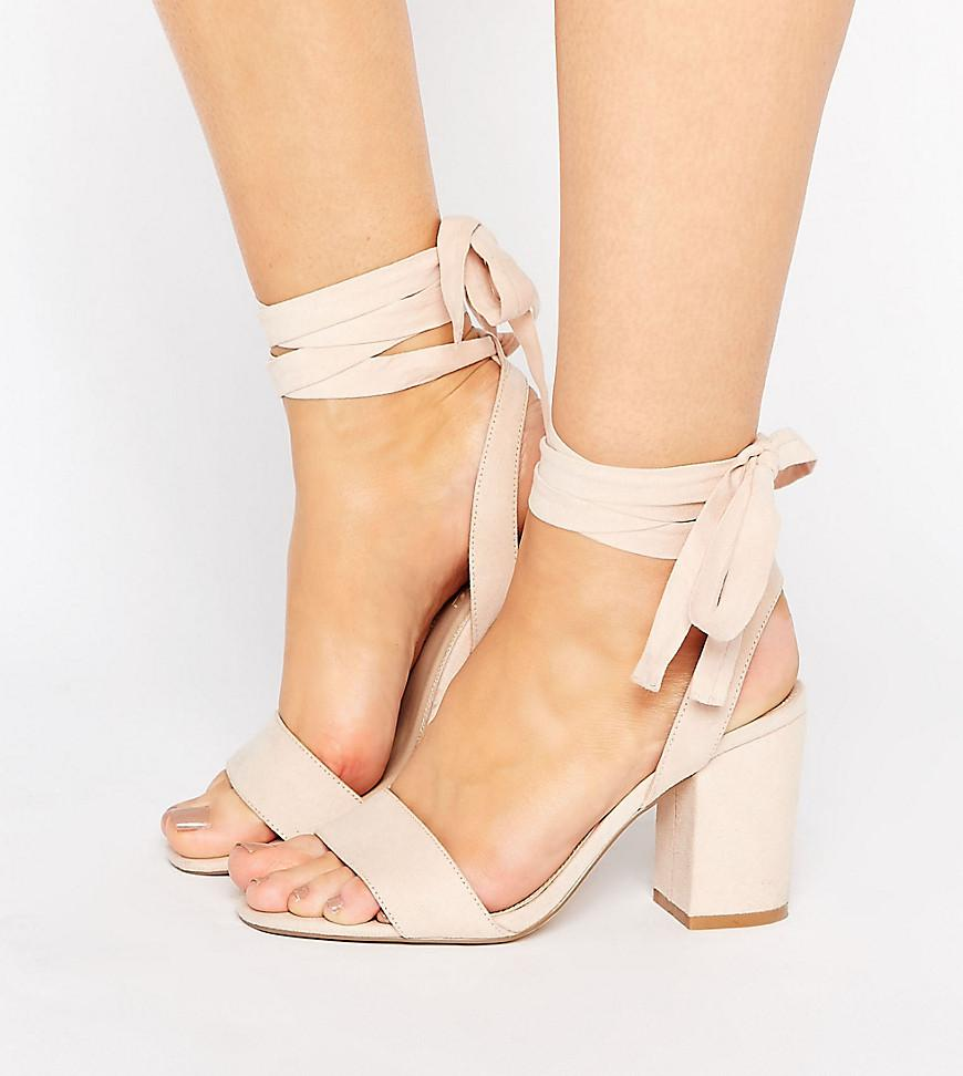 b0eaf019724 Lyst - ASOS Holding On Wide Fit Tie Leg Sandals in Natural