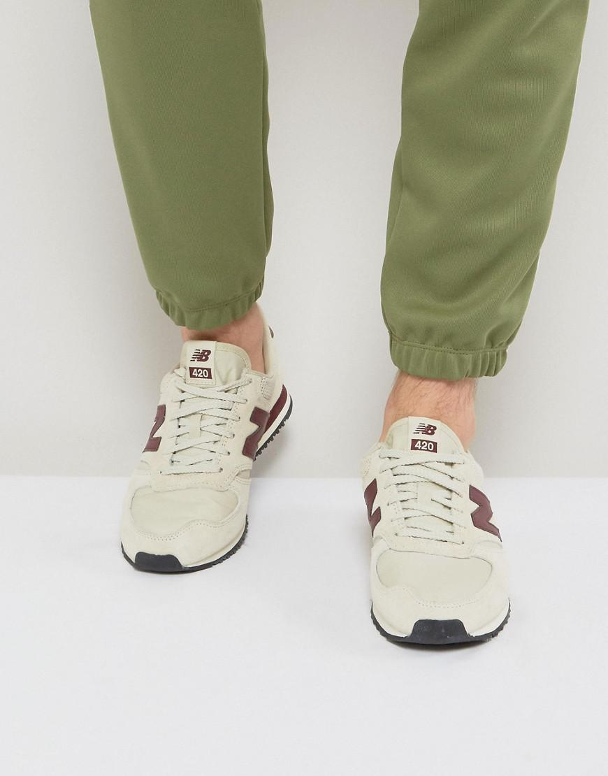 new balance beige suede 420 trainers