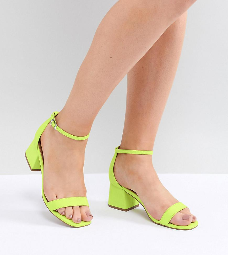 51406ed3bb1 Lyst - ASOS Honeydew Wide Fit Heeled Sandals in Green