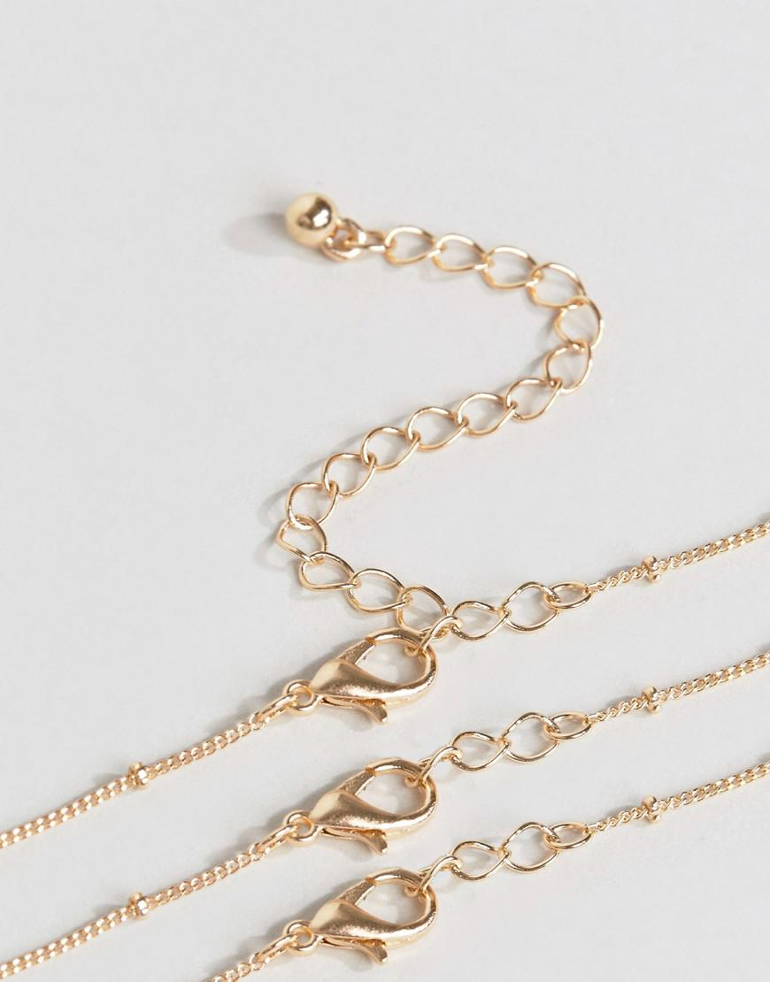 c18bd3e9e38 ASOS Pack Of 3 Ball Chain And Pearl Layering Necklaces - Lyst