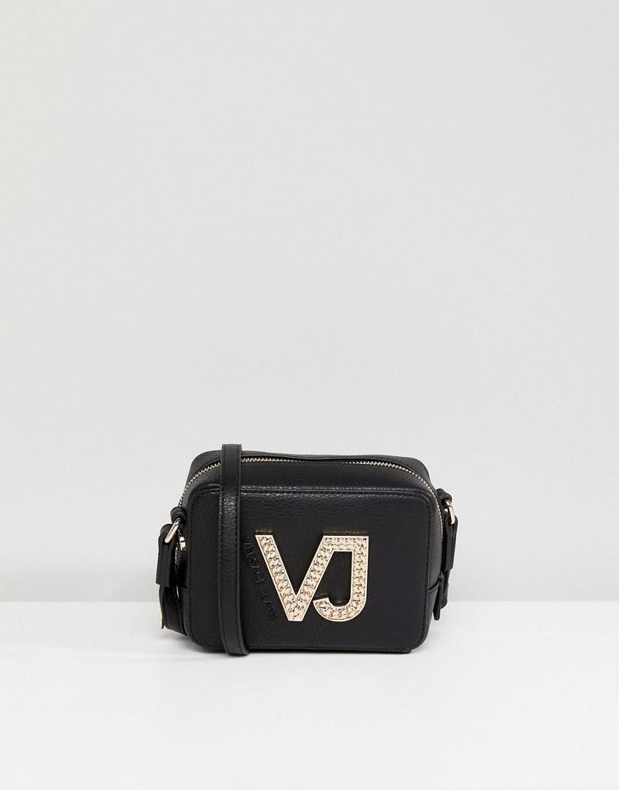 Jeans VJ Zip Around Crossbody Bag - Red Versace