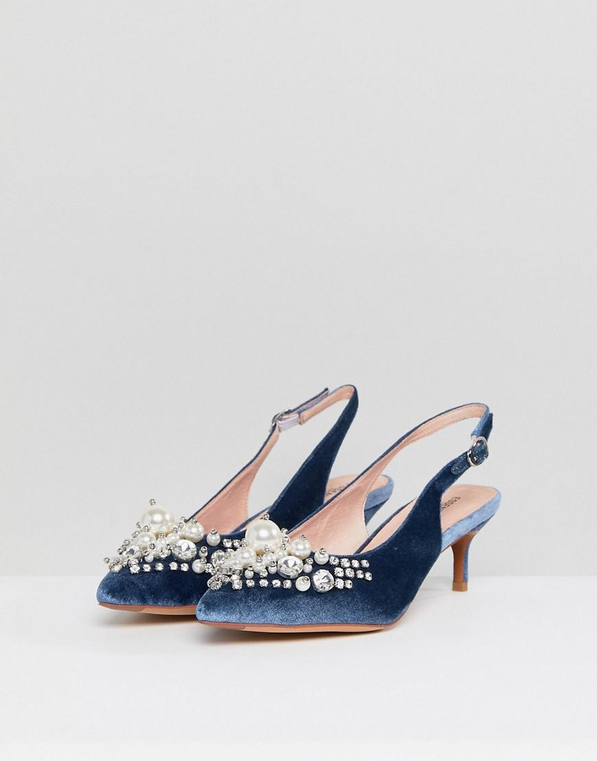 3389c6ffd84 Lyst - Essentiel Antwerp Pastis Heeled Shoes With Pearls in Blue