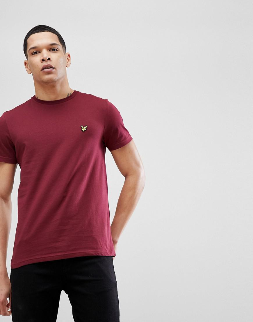 2c97c72ed Lyle & Scott Logo T-shirt In Burgundy in Red for Men - Lyst